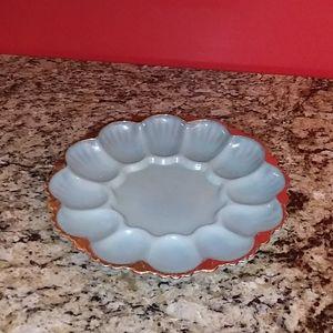 0921 Glass Egg Plate